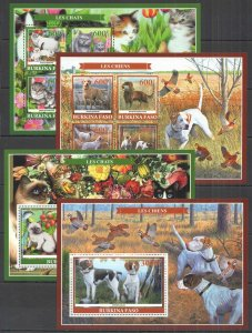PE 2019 BURKINA FASO FAUNA DOMESTIC ANIMALS PETS 2KB+2BL MNH
