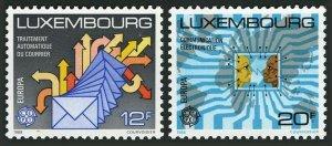 Luxembourg 787-788,MNH.Michel 1199-1200. EUROPE CEPT-1988.Communications.