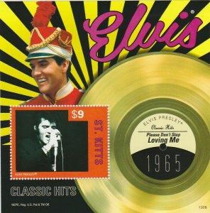 St Kitts - 2013 Elvis Presley Loving Me Stamp - S/S - STK1308