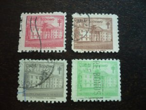Stamps - Cuba - Scott# RA39-RA42 - Used Set of 4 Stamps