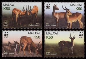 Malawi WWF Puku 4v SG#1013-1016 MI#721-724 SC#714 a-d