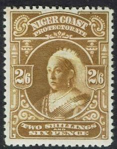 NIGER COAST 1897 QV 2/6 PERF 13.5 - 14