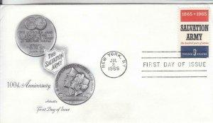 1965, 100th Anniv. Salvation Army, Artmaster, FDC (E7780)