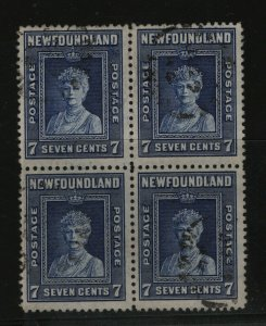 Newfoundland #258i Very Fine Used Block **With Certificate**