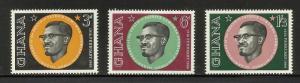 Ghana 1962 Scott# 118-120 MNH