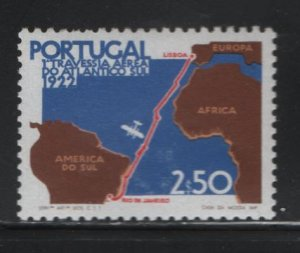 PORTUGAL, 1161, MNH, 1972, MAP OF FLIGHT FROM LISBON TO RIO