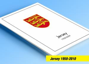 COLOR PRINTED GB JERSEY 1958-2010 STAMP ALBUM PAGES (198 illustrated pages)