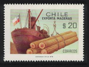 Chile Timber Export with Flag SG#800