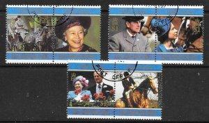 PITCAIRN ISLANDS SG516/21 1997 GOLDEN WEDDING FINE USED