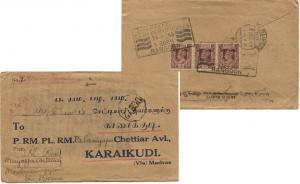 Burma 1a KGVI Overprinted Mily Admn 1945 Rangoon Buy Post Office Cash Certifi...