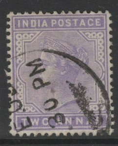 INDIA SG116 1900 2a PALE VIOLET USED