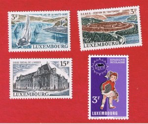 Luxembourg #503-506  MNH OG  Various Scenes  Free S/H