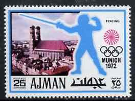 Ajman 1971 Fencing 25dh from Munich Olympics perf set of ...