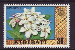 1980 Kiribati 30c Frangipani No Wmk Mint