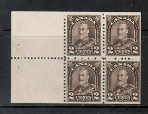 Canada #166a Very Fine Never Hinged Booklet Pane