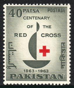 Pakistan 179, MNH. Intl. Red Cross, cent. Emblem, 1963