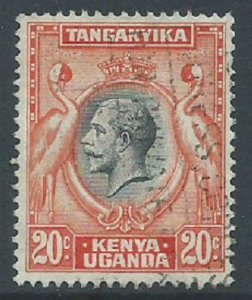 Kenya, Uganda & Tanganyika, Sc #50, 20c Used