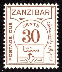 Zanzibar Scott J21 Mint never hinged.