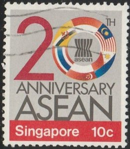 Singapore,  #502 Used  From 1987