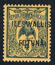 Wallis and Futuna 3 MLH New Caledonia Overprint (BP09316)