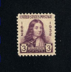 USA #724  1  used 1932 PD .08