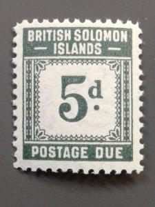 Solomon Islands J5 F-VF MLH.  Scott $ 8.00
