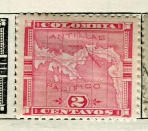 PANAMA; 1892 early Map issue fine used 2c. value