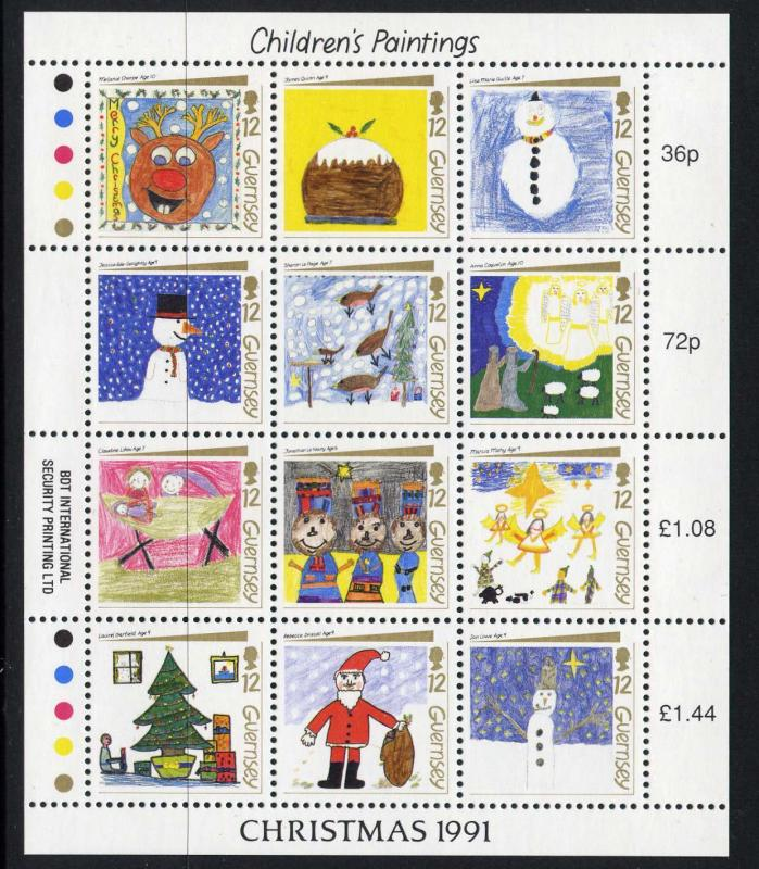 Guernsey 464 MNH Christmas Children's Paintings