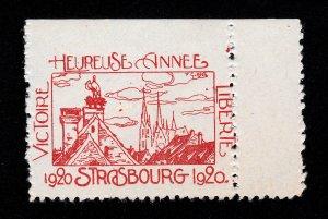 REKLAMEMARKE POSTER STAMP FRANCE VICTOIRE HEUREUSE ANNÉE LIBERTÉ 1920 MNH-OG
