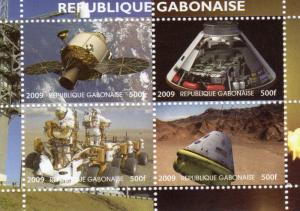 Gabon 2009  40th anniversary of the first man on the Moon.2nd.Shlt(4) Perf.MNH