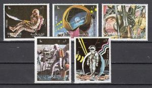 Sharjah, Mi cat. 988-992 A. Apollo 17 issue. *