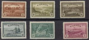 Canada - 1946 Peace Issue Complete VF-NH #268-273