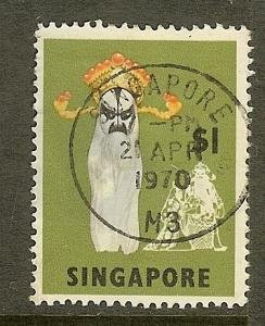 Singapore, Scott #95; $1 Chinese Opera Mask, Used
