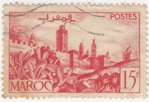 Morocco, SW269, Used, 1947, View of City