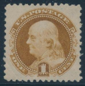 #133 RE-ISSUE WITH GUM VF-XF UNUSED CV $240+ BU7442
