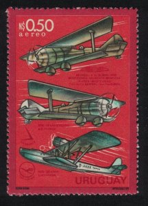 Uruguay 50th Anniversary of First Flight Montevideo - Buenos Aires MI#1358