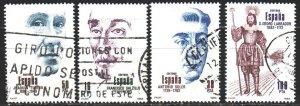Spain. 1983. 2587-90. Salzilo-sculptor, Soler-composer, Turino-composer. USED.