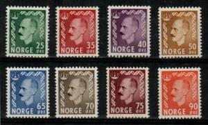 Norway Scott 345-52 Mint hinged (Catalog Value $47.25)
