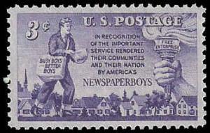 PCBstamps   US #1015 3c Newspaper Boys, MNH, (PCB-43)
