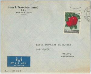 74935 - LEBANON - POSTAL HISTORY - AIRMAIL COVER to  ITALY   1960'S