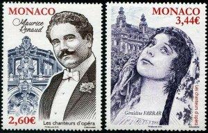 HERRICKSTAMP NEW ISSUES MONACO Sc.# 2964-65 Opera Singers 2019 Renaud, Farrar