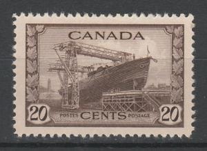 CANADA 1942 WAR EFFORT 20C SHIP