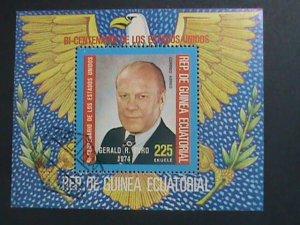 GUINEA EQUATORIAL 1974-BICENTENARY OF AMERICAN REVOLUTIONARY-PRESIDENT FORD