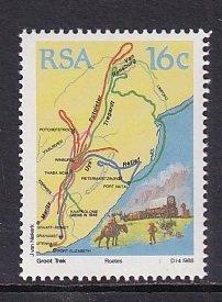 South Africa   #758   MNH  1988  the great trek  16c