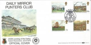 Daily Mirror Punters Club Epsom Derby Benham Official FDC BLCS11 1979 Z4148