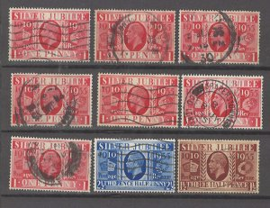 COLLECTION LOT # 3054 GB #227-9 9 STAMPS 1935 CV+$17 CLEARANCE