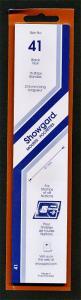Showgard Stamp Mounts Size 41 mm / 215 mm BLACK Strip  (Pack of 15)