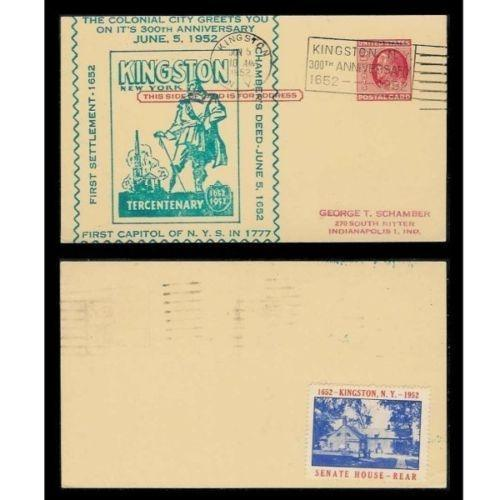 US 1952 Kingston NY Poster Stamp on Postal Card #4