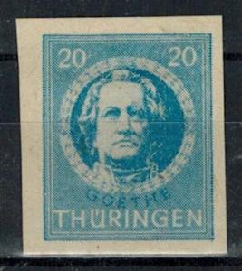 Germany - Russian Zone - Thuringia - Scott 16N7a MH