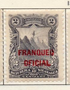 Nicaragua 1993 Service Issue Fine Mint Hinged 2c. Official Optd 139254